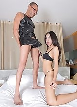 Sexy Dati is back and taking in some Monster cock. This asian beauty loves having her ass stretched and fucked. Ramon loves himself some hardcore TS a