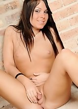 Beautiful transsexual posing her perfect teen body