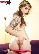 Taryn Elizabeth is a gorgeous Grooby girl with a hot body, budding hormone tits, a nice rock hard cock and an amazing bubble butt! See this sexy tgirl