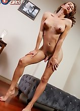 Looking sexy as hell, Zoe is horny and ready to have fun! Watch her stroking it until she shoots a nice sticky load!