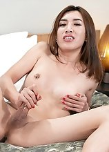 Ladyboy Allison Intense Cock Matsurbation and Ejaculation
