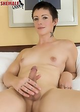 Gorgeous Evie Eliot is a stunning tgirl with a magnificent body, natural tits, a gorgeous ass and a big hard uncut cock! Watch this sexy transgirl