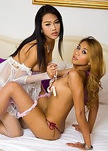 Teen Ladyboys Moo and Wawa