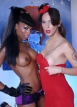 Sexy Nikki posing with a black hottie Natassia