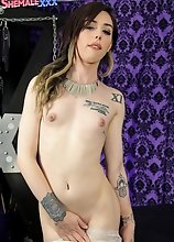 Annabelle Lane is all decked out in sexy bikini does playful teasing before playing with her yummy cock, tits and juicy ass-pussy!