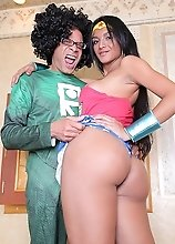 Sexy and horny Michelly Cinturinha gets some hardcore super cock!