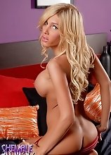 Famous Blondie Kimber James Posing