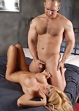 Unbelievably hot Kimber getting her ass drilled by John