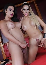 Horny Bianca taking Bianca's huge dick