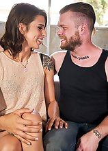 Gorgeous Casey Kisses is back in a smoking hot hardcore with Mike Panic! Watch this lovely Grooby girl getting a blowob from Mike before she returns t