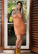Bailey Jay in a Vintage Look by the Window Acting Like a Good Slut